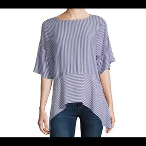 NWT❗️ANA Round Neck Elbow Sleeve Woven Blouse
